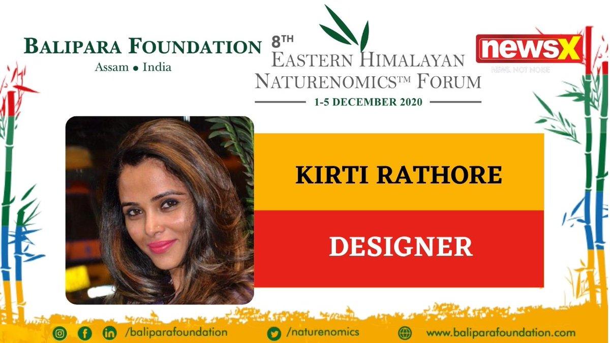 #EcologyIsEconomy  Join Kirti Rathore, Designer (@KirtiRathore10) at the virtual edition of 8th Eastern Himalayan Naturenomics Forum 2020, 1st-5th December, on #NewsX #EHNF2020 @naturenomics Register now-