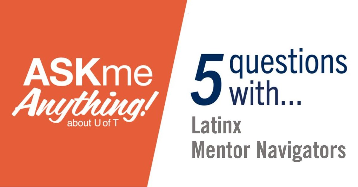 TODAY at 12pmET! Live chat with #UofT students Tamara and Mariajose — Latinx Mentor Navigators from Access & Inclusion Peer Programs. Tune in! Details here:  #UofT