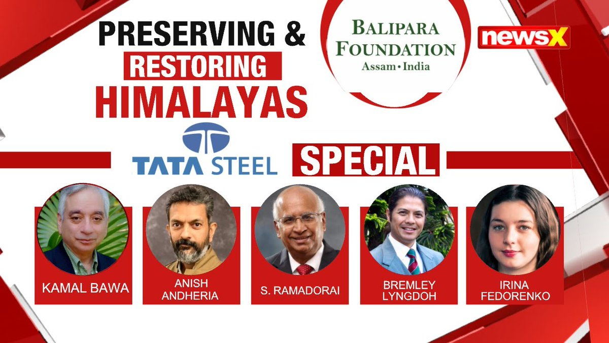 #EcologyIsEconomy Balipara Foundation's Special Show in July revolved around preserving & restoring the Himalayas @naturenomics Tune into the virtual edition of #EHNF2020, 1st-5th Dec, on #NewsX . . Watch the whole discussion on #NewsX Youtube
