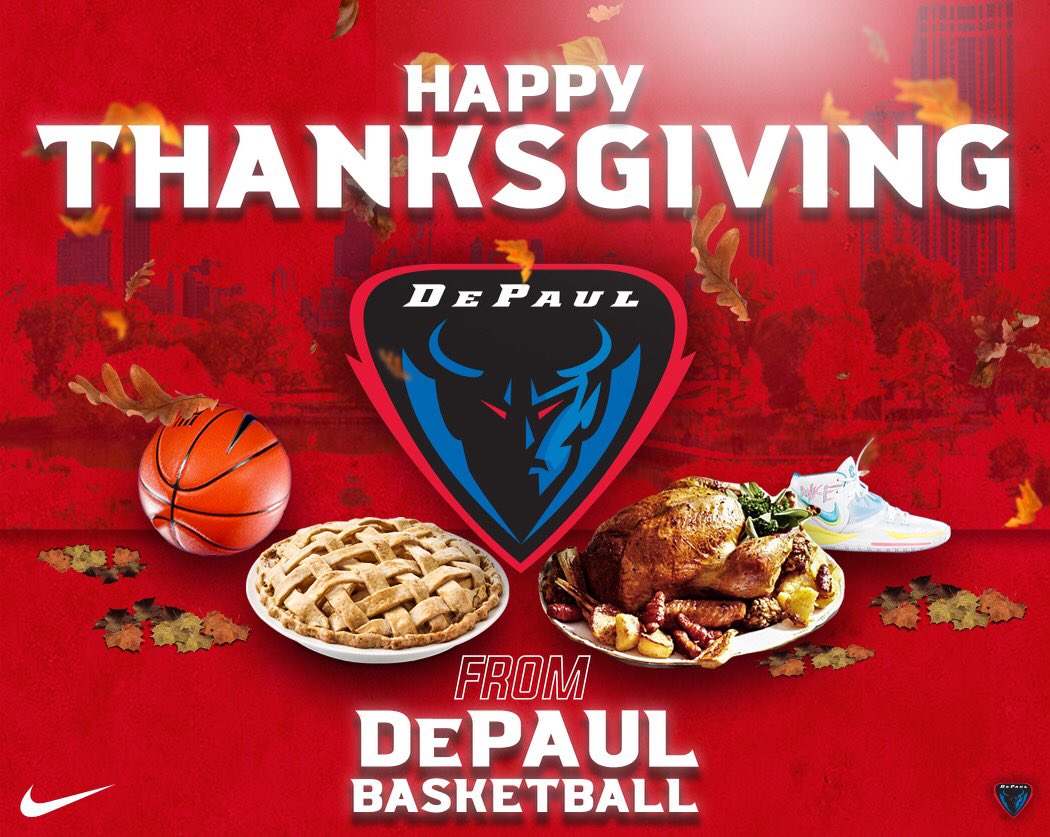 Happy Thanksgiving from the @depaulhoops family! 🦃  🔵👿 | #PlayingPossessed https://t.co/RQtvDP8ZlE