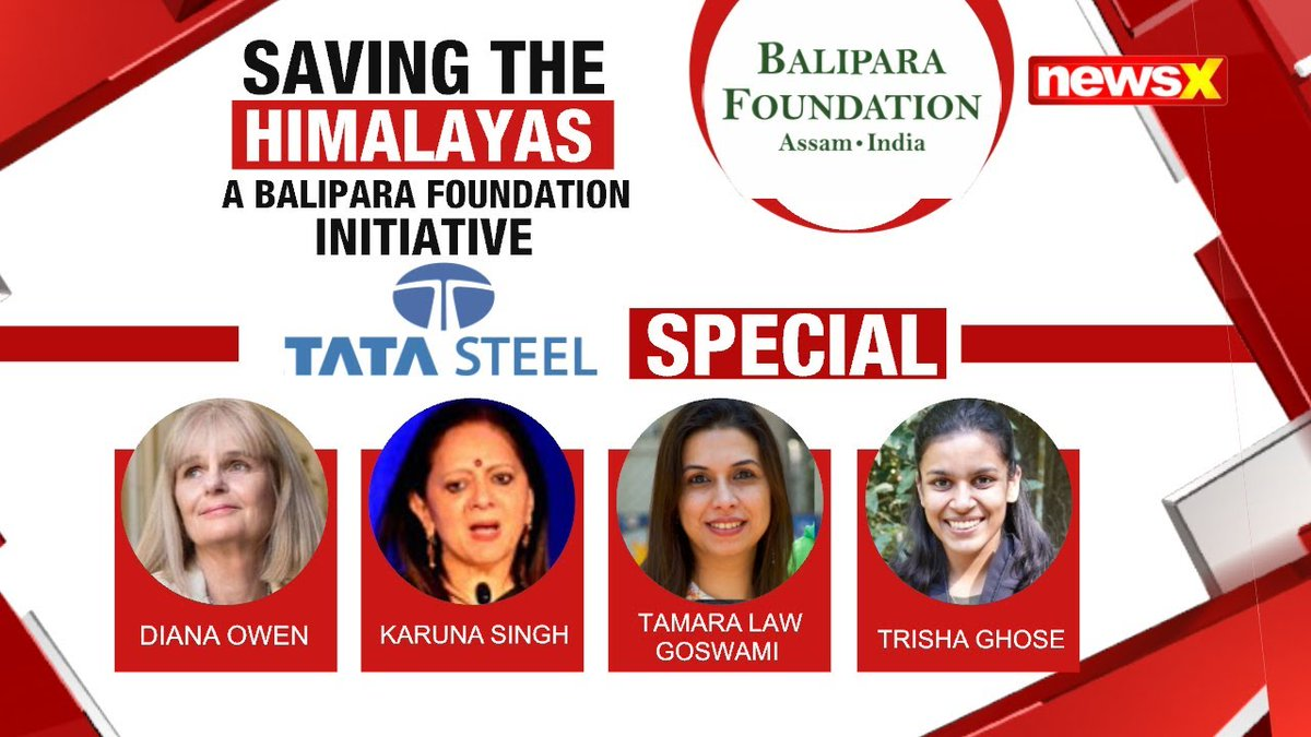 #EcologyIsEconomy Balipara Foundation's Special Show in July discussed the various aspect around saving the Himalayas @naturenomics Tune into the virtual edition of #EHNF2020, 1st-5th Dec, on #NewsX . . . Watch the whole discussion on #NewsX Youtube
