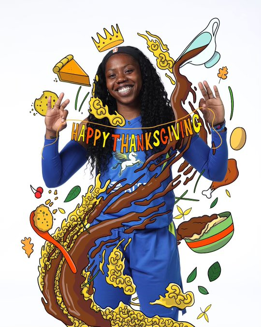 Replying to @DallasWings: Happy Thanksgiving, Wings Nation! 😀  We're thankful for you. Stay safe! 🦃  #RISE