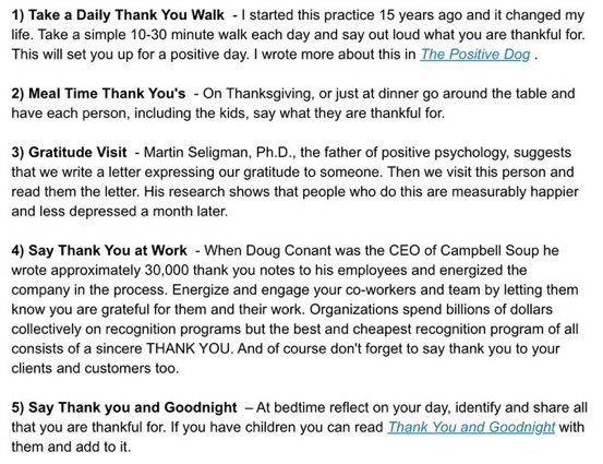 Here a few ways to practice gratitude today and every day. I just want to say I'm thankful for you!