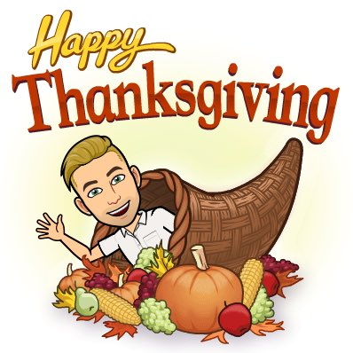 Thankful to have made it (almost) through 2020! I hope everyone has a fun and safe day! #Thanksgiving 🦃🍁