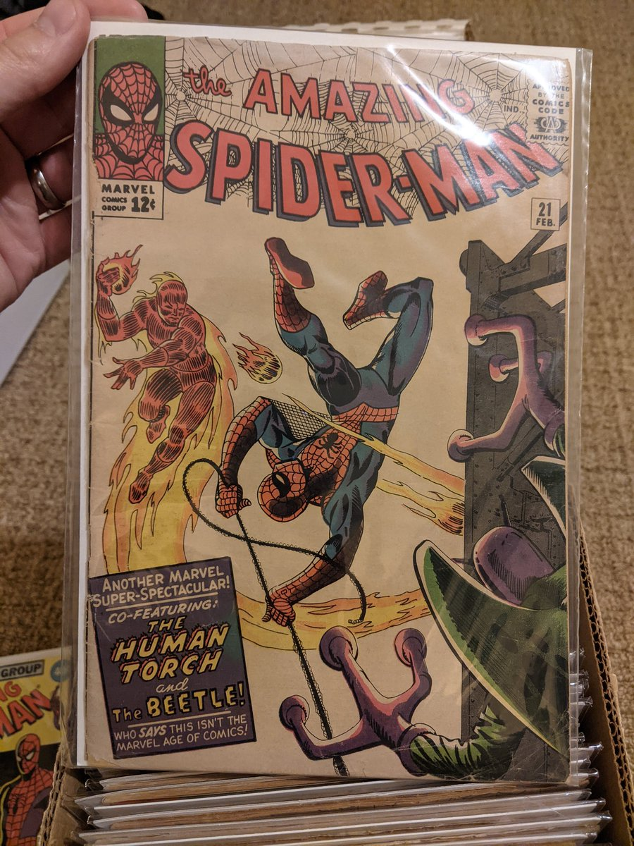 I think I've mentioned this numerous times but ASM 21 was my first Stan Lee and Steve Ditko issue. I couldn't pass it up for $15. https://t.co/2HvaTCeXTh