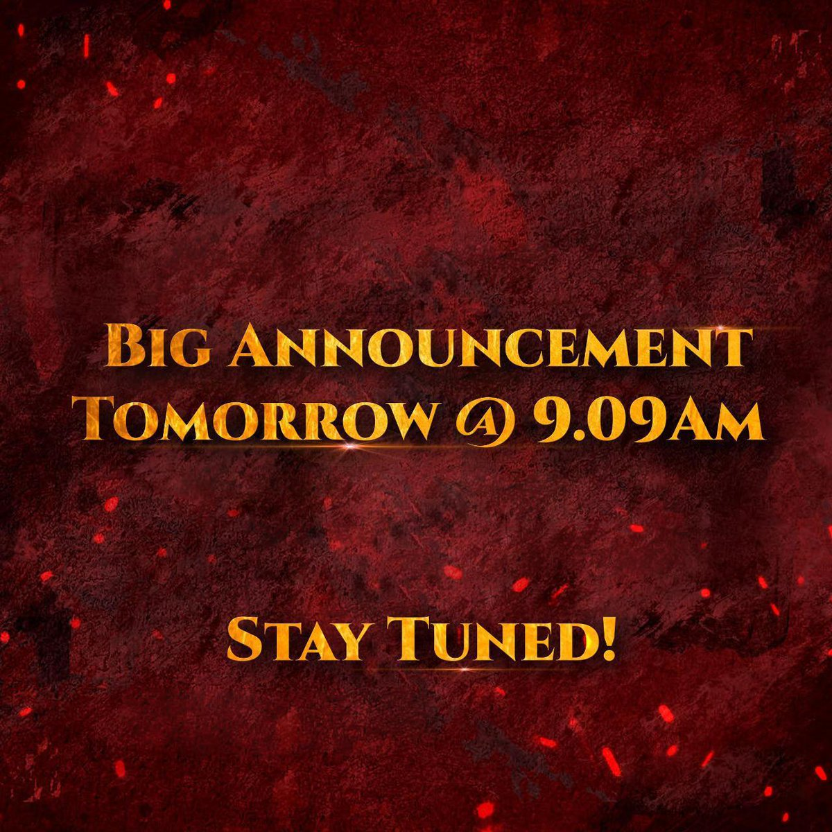 A very big and exciting announcement happening tomorrow at 9:09 AM!  Watch this space!... Guess Karo