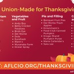 Image for the Tweet beginning: Happy Thanksgiving from Michigan's unions!