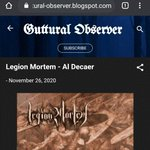 Image for the Tweet beginning: Legion Mortem-Al Decaer  _ #deathmetal #metal #blackmetal