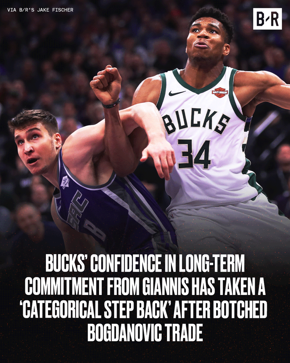 "Bogdan was Giannis' ""preferred addition"" this offseason. He admired the European's toughness and swagger and viewed him as someone you ""could go to war with in the postseason."" More from @JakeLFischer: bit.ly/39kCXv8"