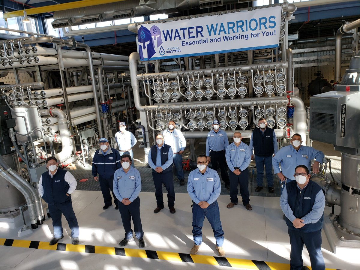 Today and every day we are thankful for our #essential employees! Pictured here are the #WaterWarriors of the Kay Bailey Hutchison Desalination Plant who help supply our community with clean drinking water. #WorkingForYou #thankful