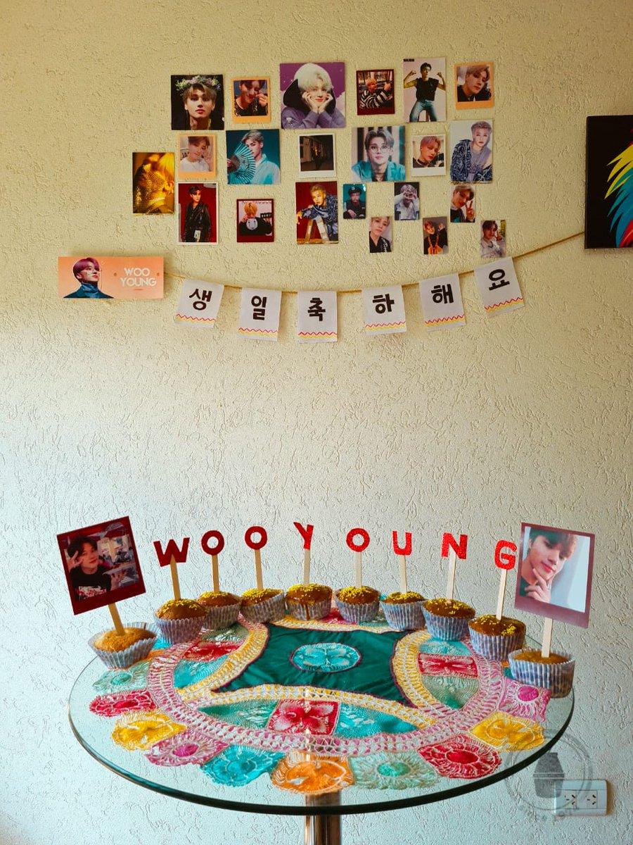 Ayer unas amigas me ayudaron a festejar el cumple años de mi bebé. Y miren como quedo todo😔. Soy la persona más feliz del mundo gracias por festejar conmigo el cumple de mi hombre💖  #ATEEZ #WooyoungDay #WOOYOUNG