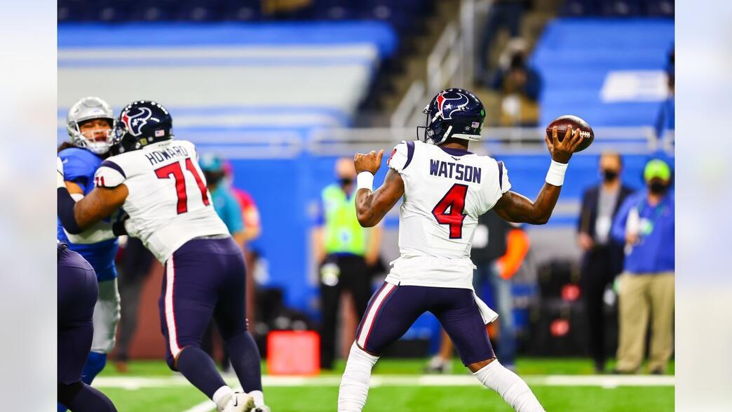 ANOTARAM A PLACAR? 🚚🏈😂  Deshaun Watson brilha e Houston Texans passa pelo Detroit Lions #WeAreTexans #OnePride #NFL