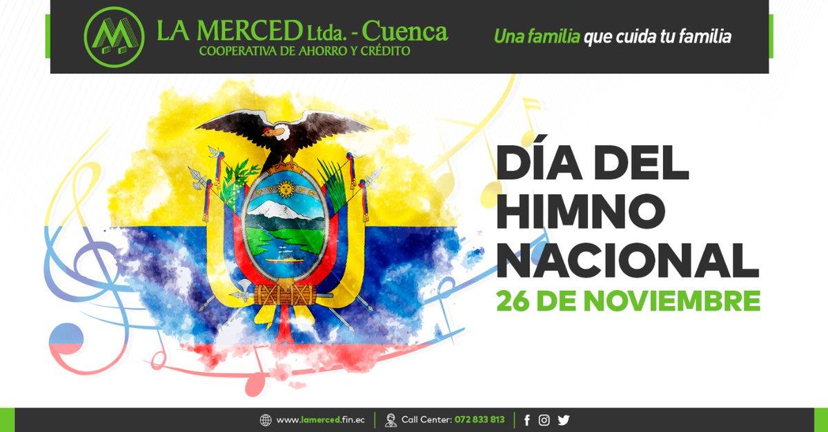 Hoy 26 de noviembre se celebra el día del #HimnoNacional de la República del Ecuador.  La letra fue creada por el reconocido poeta Juan León Mera Martínez de origen ambateño y el músico compositor francés Antonio Neumane el 14 de noviembre de 1865. https://t.co/soNPmXrCvi