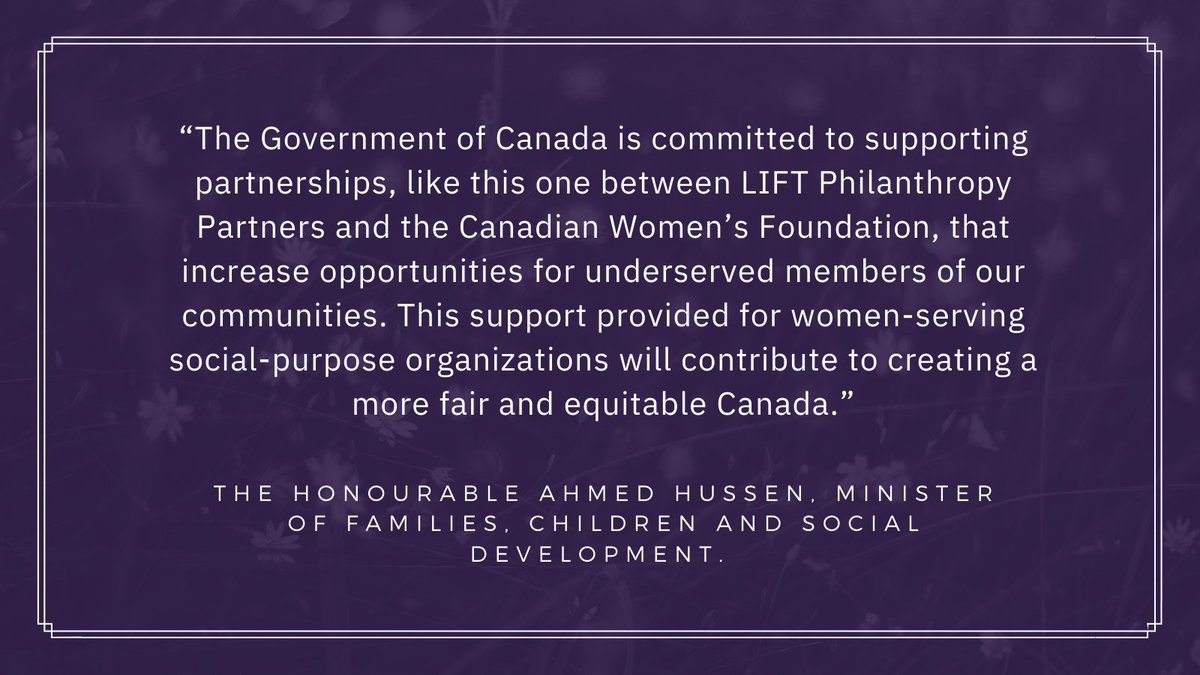 Thanks to funding from @ESDC_GC, we're pleased to announce the launch of a partnership with @cdnwomenfdn that will strengthen 12 women-serving social-purpose organizations in this crucial moment for women and girls in Canada:    #socialimpact #IRPprogram