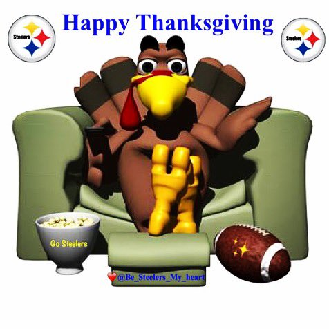 Have a great Thanksgiving Steelernation! We won't be watching our Steelers but there's so much more to be grateful for 💯🐝💯 #HereWeGo Steelers ✨ #Steelers