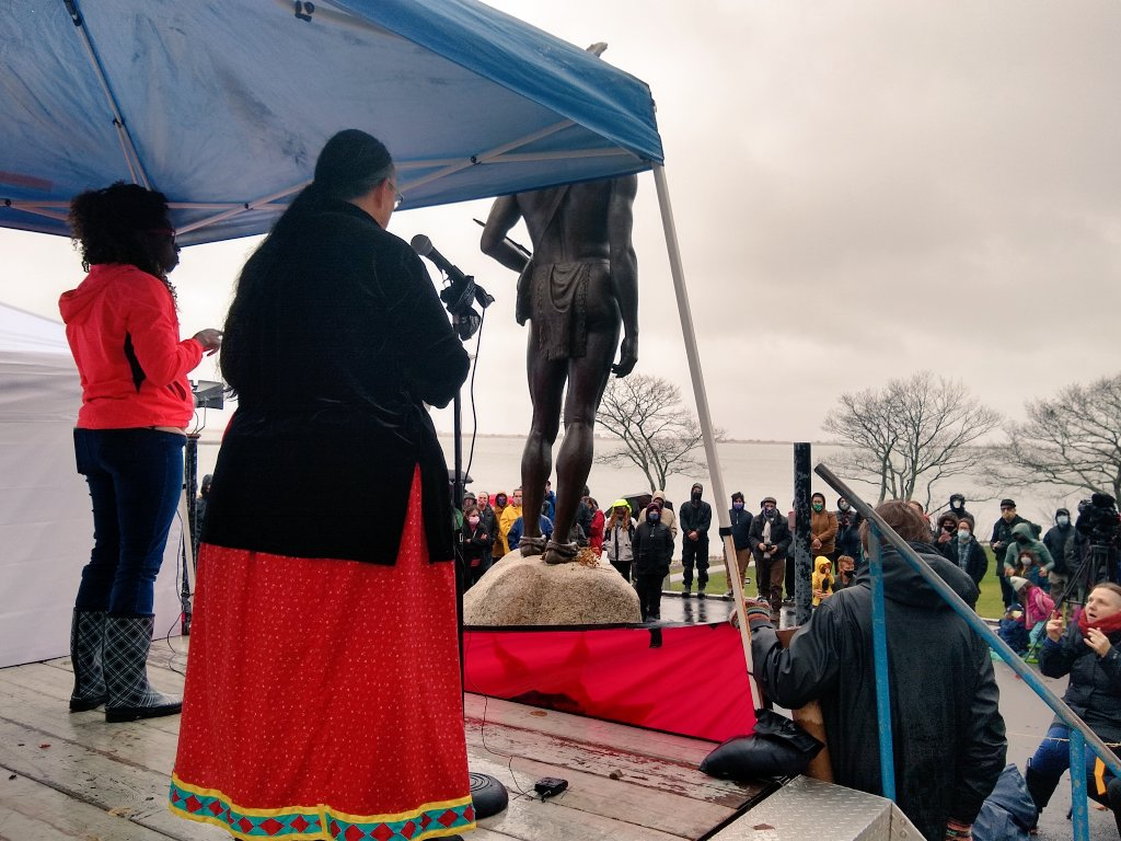 """.@mahtowin1: """"We are all united in our fight against settler colonialism. What happens to one of us, happens to all of us."""" #Solidarity #NationalDayOfMourning #NDOM #NDOM2020 #MMIWG"""