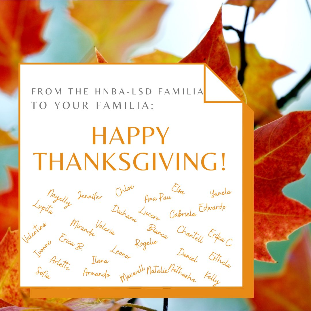 We wish you a Happy Thanksgiving!  Despite the challenges, it's time for gratitude. We are grateful to all of you. Stay safe and best of luck with finals. 🦃🍂🍁#grateful #thanksgiving