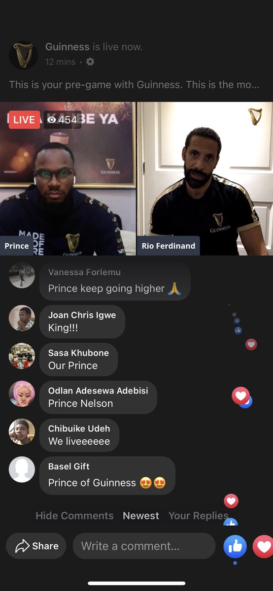 It's live on Facebook people!!!   Join the live chat here   Drop your predictions and win something for yourself.  Hurry 😉 #RioXPrinceOfGuinness  #EverythingIsPossible