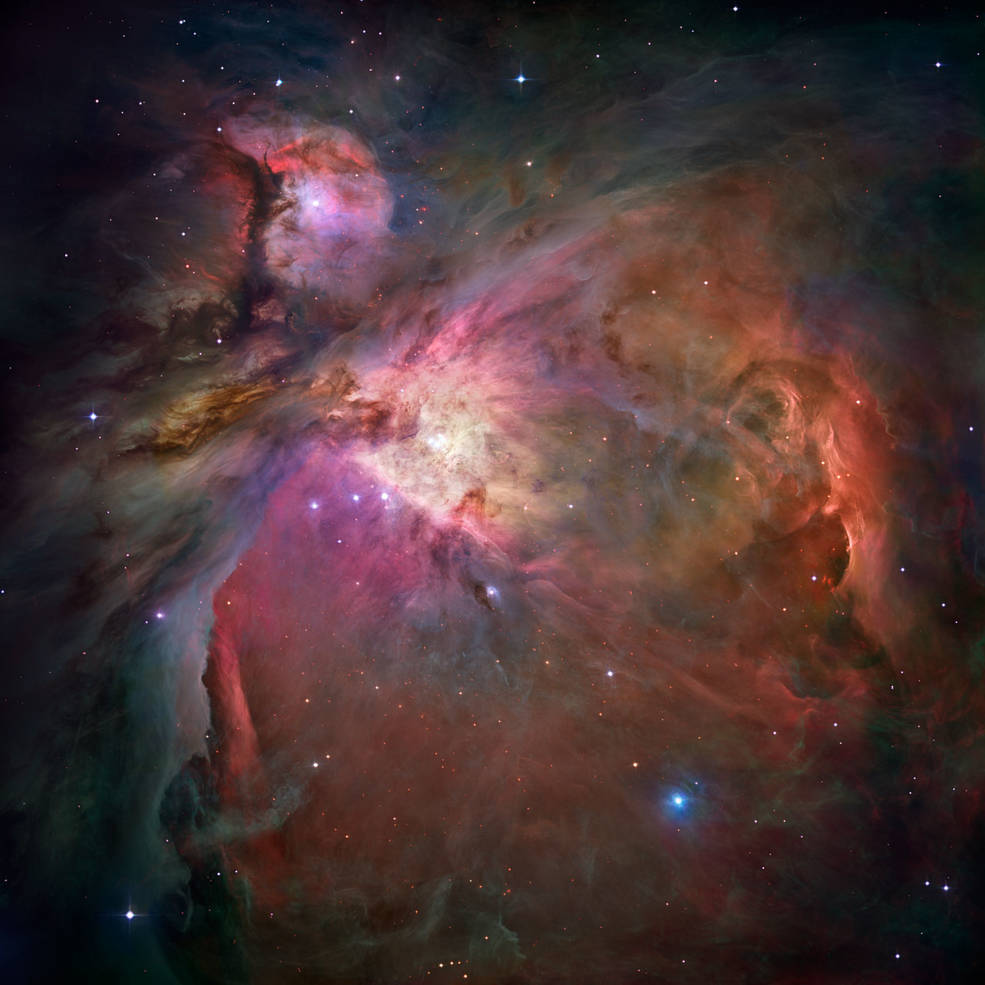 Do you see a turkey in this Orion Nebula image from @NASAHubble ... or is it just us? 🦃   #HappyThanksgiving #GobbleGobbleGobble https://t.co/Coovsp57Z4