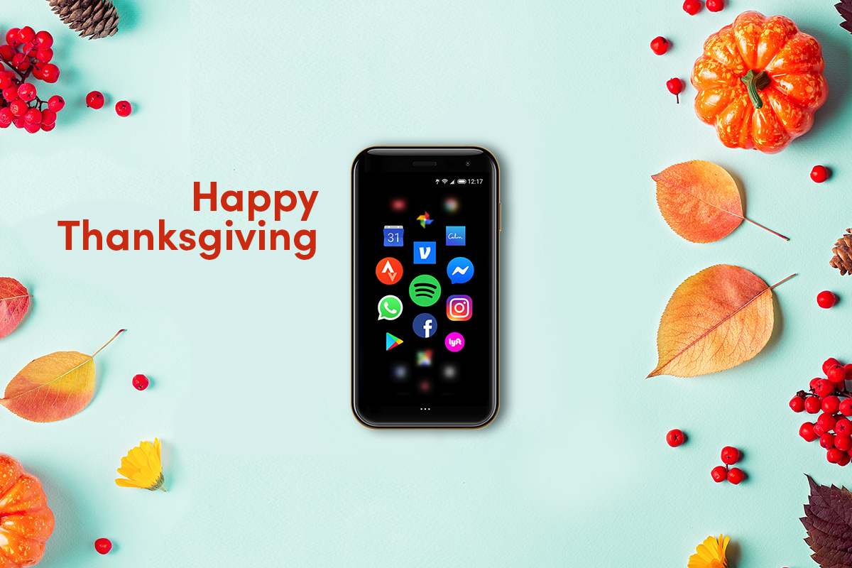 Happy Thanksgiving from Palm! We hope you and your family are finding the best and safest ways to be connected this holiday. Also, remember phones down, forks up!  #HappyThanksgiving #Thanksgiving #PalmCrew #LifeMode #PalmPhone #LiveLifeEasy