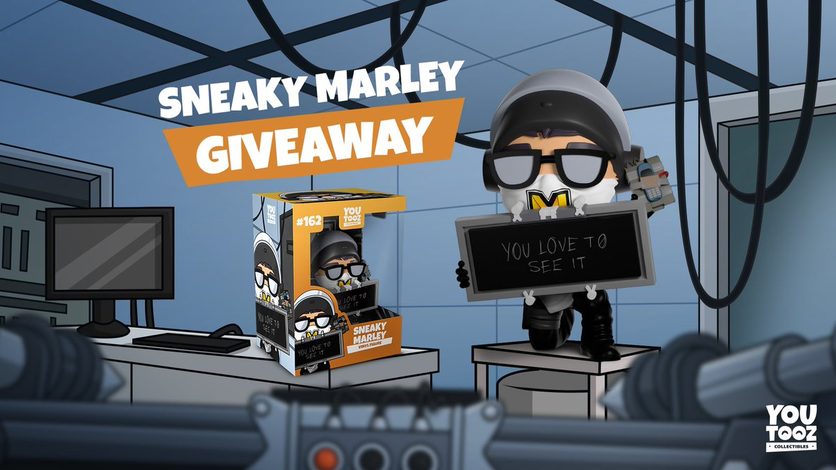 Marley - 3 of you gamers have the chance to win one of the limited edition Sneaky Marley figures dropping on the 4th of December!  Just retweet + follow @youtooz to enter! Good luck wafflers 🧇🤞