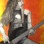 Image for the Tweet beginning: Finished the Cliff Burton piece.