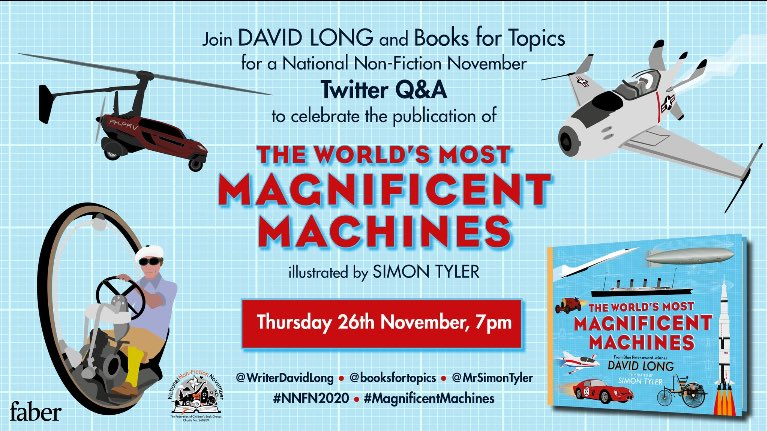 Don't forget this Twitter Q&A with @WriterDavidLong and @booksfortopics at 7.00pm tonight! #NNFN2020