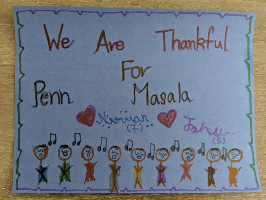 This thanksgiving, we're thankful for all of you. We love making and sharing our music with you guys, so when one of our listeners sent us this drawing her kids made for us, we were absolutely floored. Thank you to Nirvan, Janani, and all of you who continue to support us! ❤️