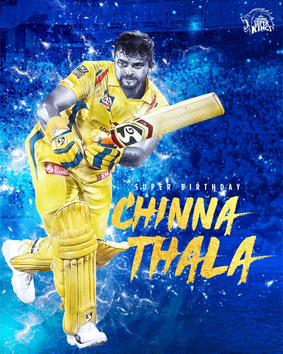 Three's a charm and truly so! Super Birthday Chinna Thala, all the #yellove to you! 🥳💛 #WhistlePodu #HappyBirthdayRaina https://t.co/6EFkijBg2M