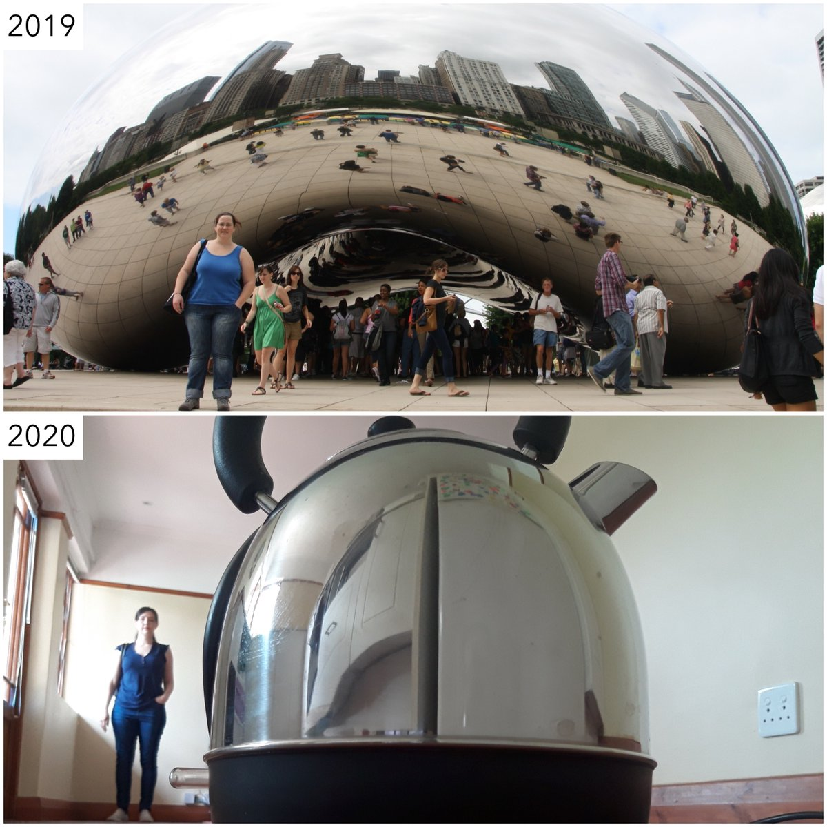 Thank you, Sat.1 Frühstücksfernshen, for featuring me on today's show and for challenging me to recreate a picture with Chicago's Cloud Gate. I don't know what I would have done if I didn't have this kettle!  #covidtravel #cloudgate #travelrecreation #asseenontv