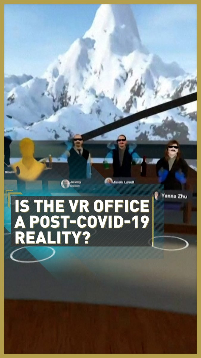 😫 The solution to Zoom fatigue? A virtual reality office 💻  Companies in the financial sector are inviting employees to wear VR headsets and immerse themselves in virtual meetings, training and conferences to liven up working from home 🏠  Read more: