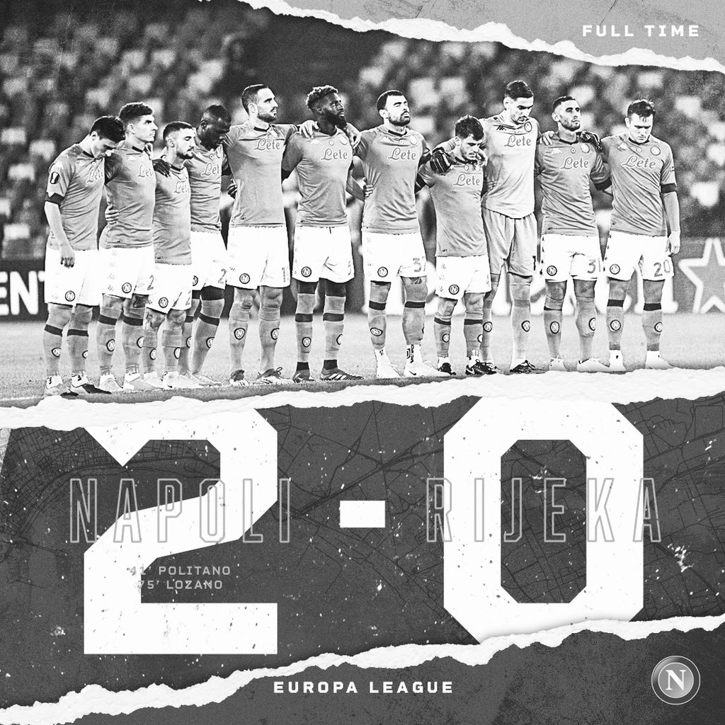 ⏱   Full time  #NapoliRijeka 2-0  💙 #ForzaNapoliSempre