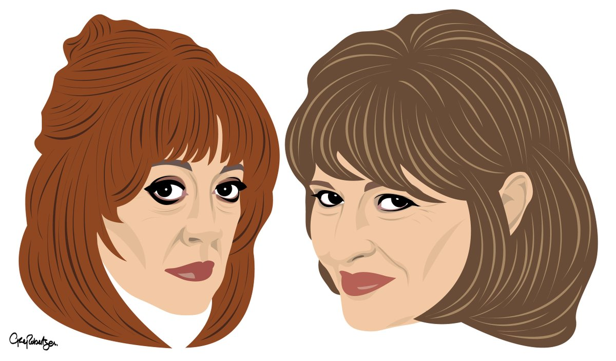 Can't have one Costa Con without the other So here is Stephanie Beacham as Phyl keeping Bev company  #BadGirls #AmandaBarrie #StephanieBeacham #Thecostacons #digitalart #digitalartwork #digitalillustration #digitalartist #art @amandabarrie11 @ActorStephanieB @BadGirlsTVShow https://t.co/PfOVuLRh9w