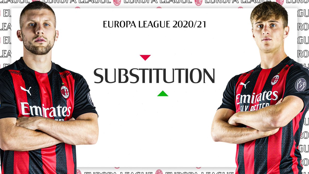 ⏱️ 61' Colombo replaces Rebić to play as striker. Go, Lorenzo! #LOSCMilan 0-1 #UEL #SempreMilan