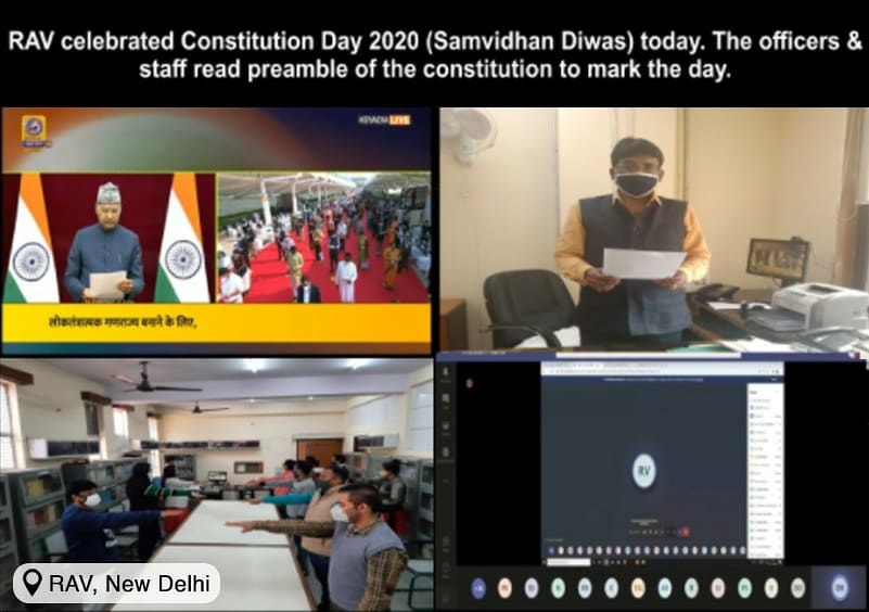 All officials from the Ministry of AYUSH, it's subordinate and autonomous organisations also participated by reading the Preamble at the scheduled time from their respective offices.