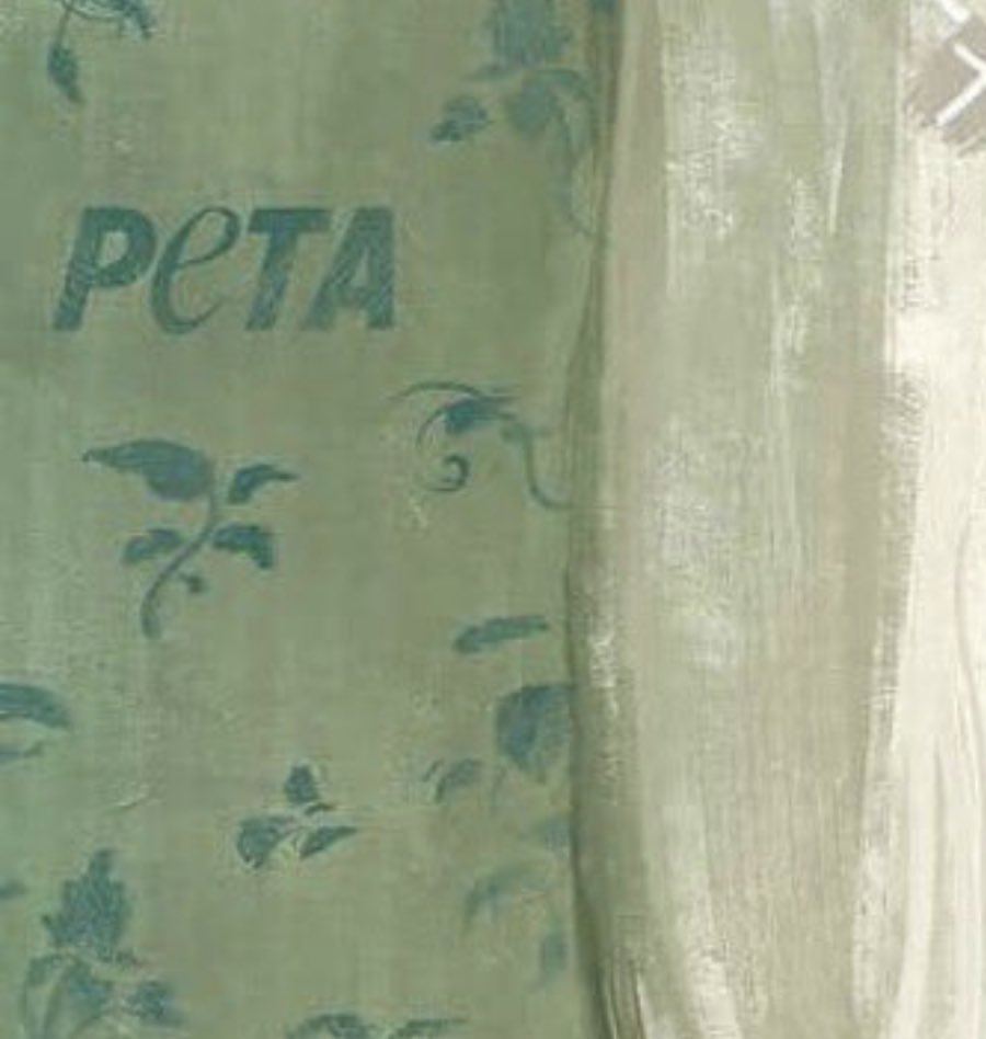 They put PETA in the wallpaper. I'm done