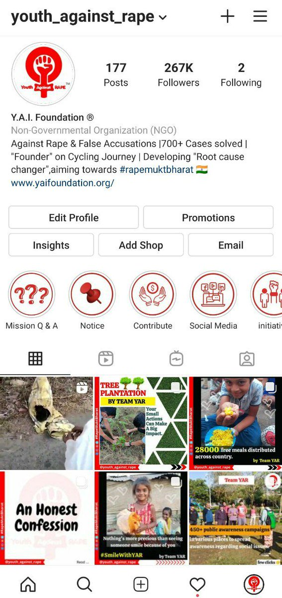 We post only for awareness, Still, few people reported our Instagram Page (@youth_against_rape) due to which we are facing many restrictions there from approx. 2 Months !  We request @InstagramComms to review our page and remove restrictions!   @mosseri @vishalshahis @rakiwane