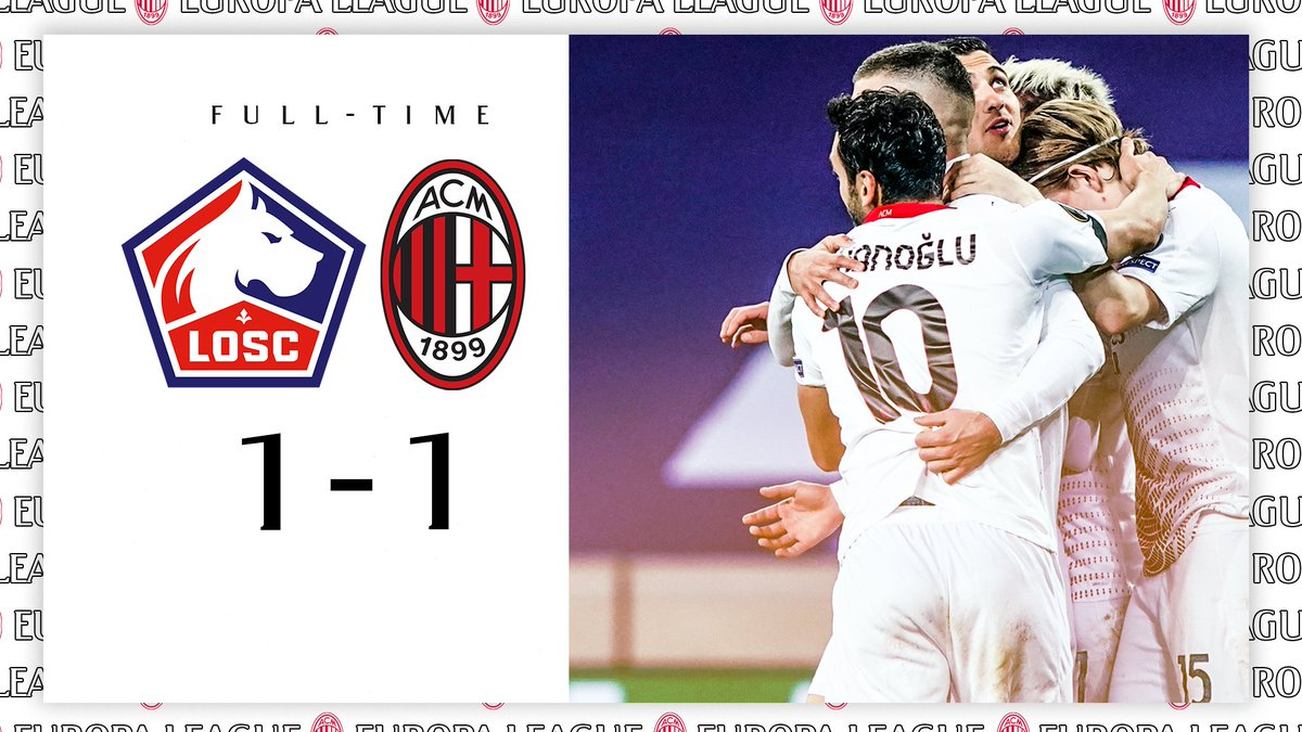 Honours even in France #LOSCMilan finisce in parità  #UEL #SempreMilan