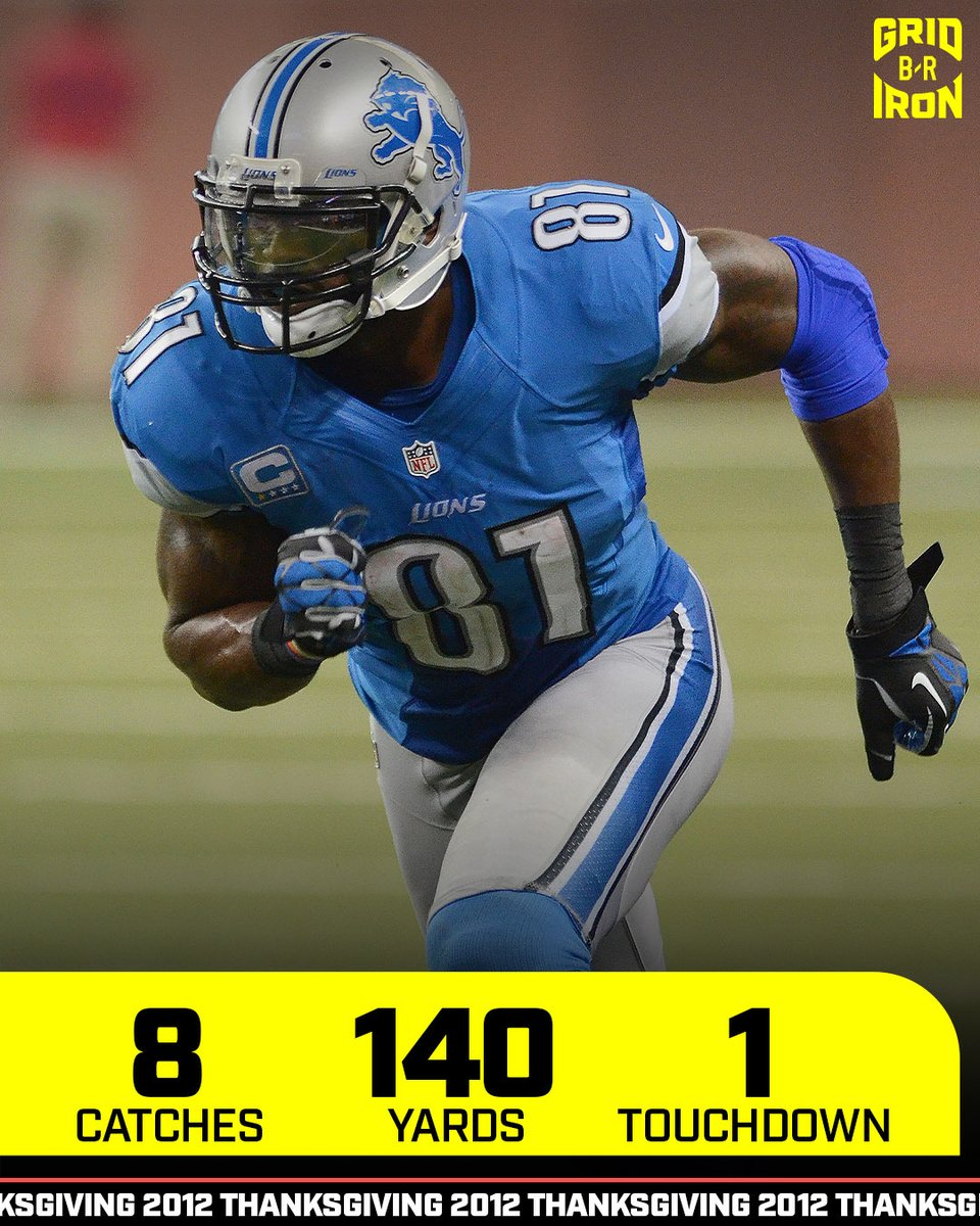 Last time the Lions and Texans battled on Thanksgiving, Megatron and Andre Johnson went OFF