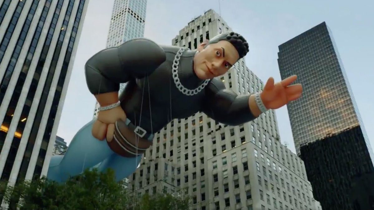The Rock Gets His Own Macy's Thanksgiving Day Parade Float (Photos, Video)