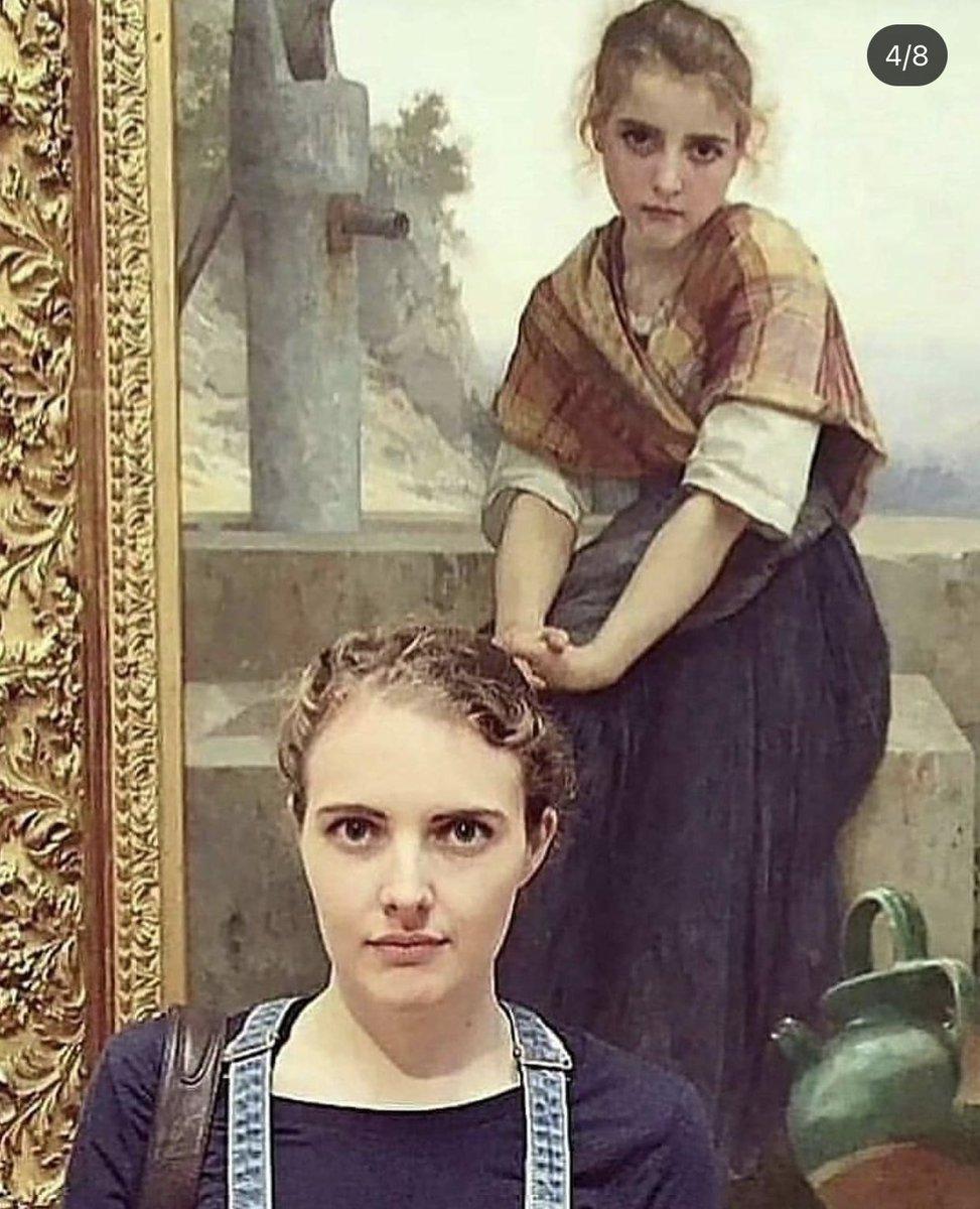 美術館の絵画とそっくりシリーズほんと好き