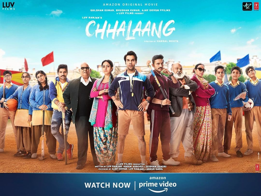 @mehtahansal's sports based movie #Chhalaang is great in respect to direction,dialogue,humour etc. The movie's music is really good especially the title track. #SaurabhShukla was amazing in this movie with his comic timing.