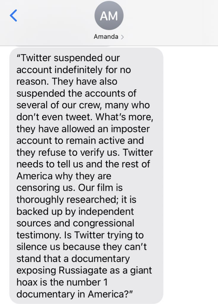 BREAKING: Statement of director Amanda Milius on the Twitter suspension of @PATPmovie https://t.co/2ZREB9qlfQ