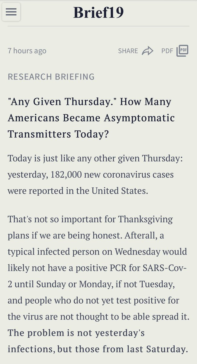 ⚠️ How Many Americans Became Asymptomatic Transmitters Today?  Hundreds of thousands, possibly.  It's not too late to change plans, wear masks, move the show outside, and save 2021!  Read why your test this week was not nearly enough 👇
