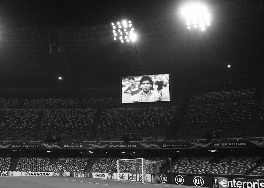 Diego, our true great love. #Napoli remembers #Maradona  👉