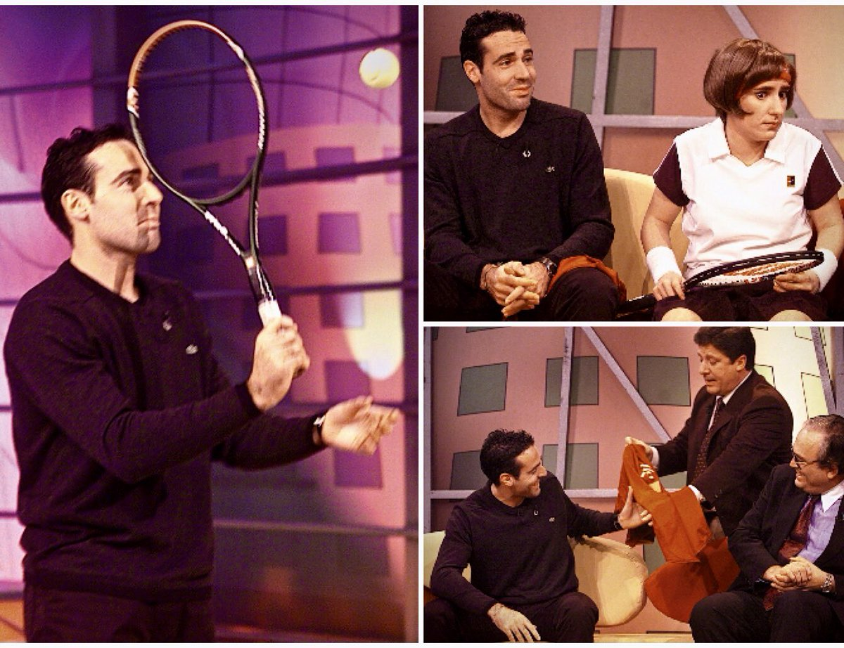 (1) Exactly 20 years ago today, a couple of days before the start of the Masters Cup #Lisbon 2000 (the year-end championships now called #NittoATPFinals), we took @AlexCorretja74 to the most popular talk show back then — hosted by Portuguese TV host #HermanJose (more ->) https://t.co/0OepQaYbIU
