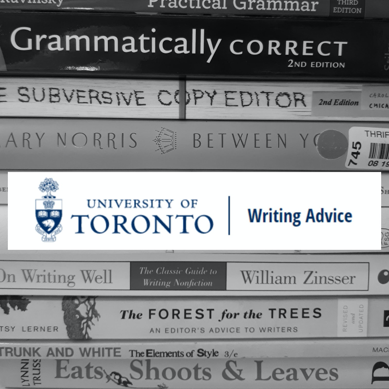 #UofT Writing Advice page is a great repository for anyone looking to improve their prose before final papers! ✍️  For more info and downloadable PDFs:   #InnisCollegeLibrary #InnisResearch #writingandrhetoric #editing @innisicss @uoftlibraries