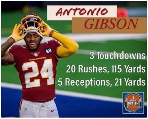 🚨🚨🍗TURKEY POWER 🍗🚨🚨  @AntonioGibson14  @WashingtonNFL  #WFTvsDAL  #ThanksgivingFootball  #WashingtonFootball  #Washington