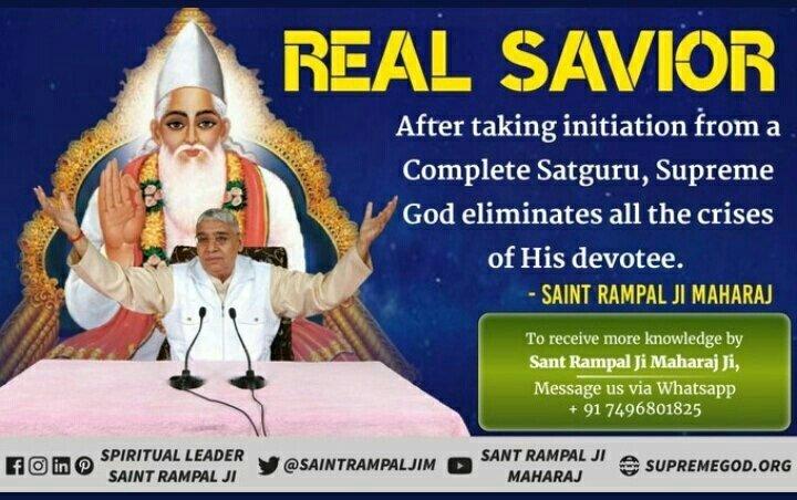 ##FridayThoughts #FridayMotivation Saint Rampal Ji Maharaj is real satguru in whole world. More information please Watch Sadhna channel at 7.30pm daily. #GodMorningFriday