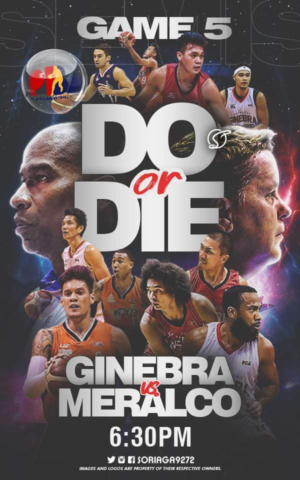 GAME DAY - DO OR DIE!!! Barangay Ginebra San Miguel  vs. Meralco Bolts  #NSD #NeverSayDie #BGSM  #BarangayGinebraSanMiguel #Ginebra #PBA #PbaBubble #MeralcoBolts #PbaPlayoffs https://t.co/uBzkCR5Y9T